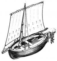 Вельбот СШ-1 переделанный А. И. Соловьевым в прогулочно-туристское судно