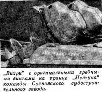 «Вихри» с оригинальными гребными винтами на транце «Нептуна»