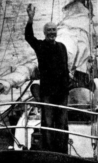 Вилли де Роос на своей яхте