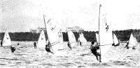 Виндсерфингисты на соревнованиях