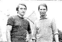 Виндсерфист ЧССР Юри Желинец (справа) и гость из ПНР — Стефан Шопен