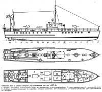 Внешний вид и схема общего расположения катера «МО-4»