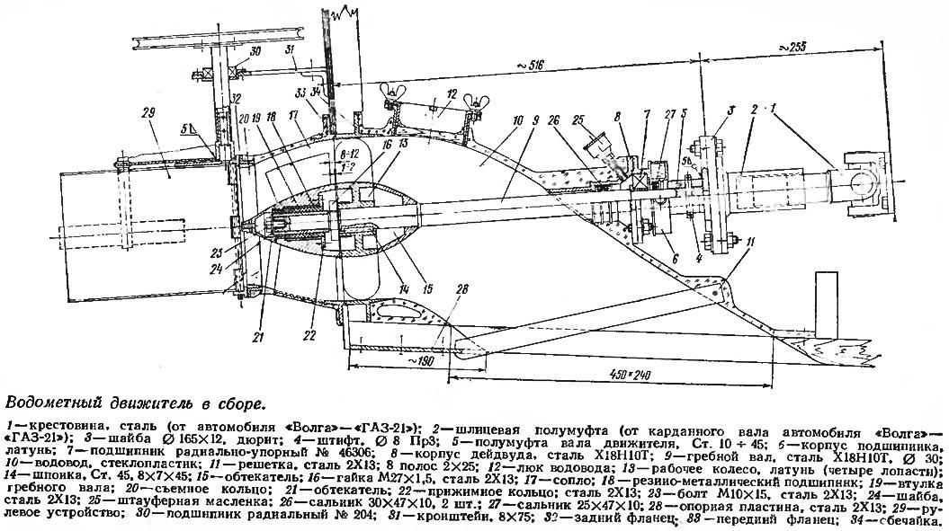 Самодельный водомет для лодки своими руками: чертеж 28