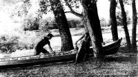 Вынос лодки на берег