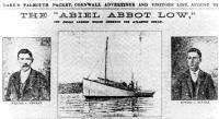 Вырезка из фалмутской газеты, давшей описание плавания Ньюменов
