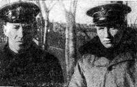 Я. И. Чипов (слева) и И. П. Матвеев. Фото 1941 г