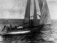 Яхта «Альбатрос» (Ленинград, Яхт-клуб БМП), занявшая II место в первой группе