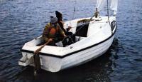 Яхта «Ассоль» под парусами