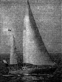 Яхта «Дар Пшемысля» под парусами
