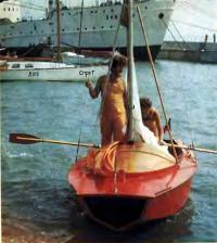 Яхта «Каравелла» под флагом ЧССР в гавани одесского яхт-клуба ЧМП