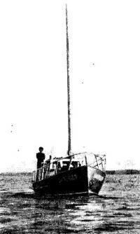 Яхта «Надежда» на плаву