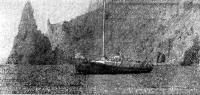 Яхта «Надежда» на якоре
