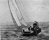 Яхта «Паутинка» на ходу