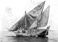 Яхта под парусами на воде