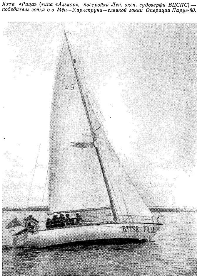 Яхта «Рица» — победитель главной гонки Операции Парус-80