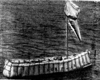 Яхтсмен отдыхает не покидая доски