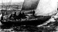 Занявшая второе место пластмассовая яхта «Эдвенче»