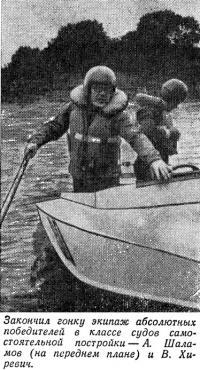 А. Шалимов (на переднем плане) и В. Хиревич