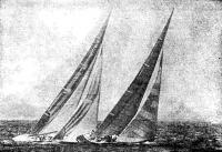 «Аастралия-II» (КА-6) в гонке с «Либерти» (US-40)