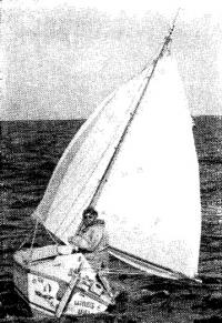 Билл Данлоп на яхте «Уинд уилл»