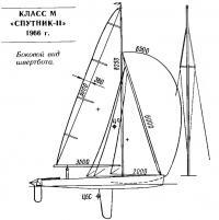 Боковой вид швертбота класса М «Спутник-II»