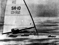 Буер чемпиона мира 1984 г. Тийна Хаагма (СССР) на дистанции