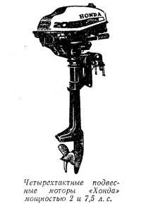 Четырехтактные подвесные моторы «Хонда» мощностью 2 и 7,5 л. с.