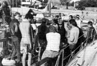Датские яхтсмены среди ленинградцев