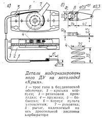 Детали модернизированного ДУ на мотолодке «Крым»