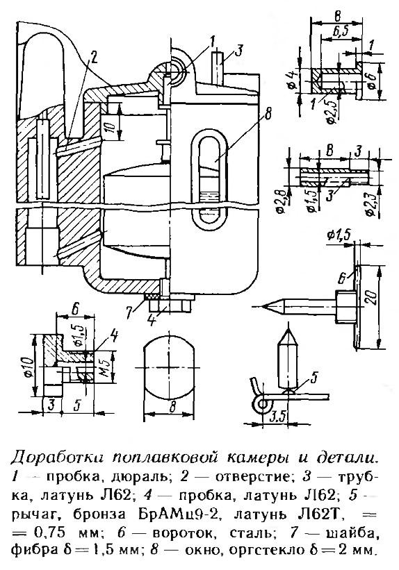Карбюратор поплавковая камера регулировка лодочного мотора