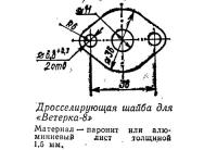 Дросселирующая шайба для «Ветерка-8»