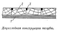 Двухслойная конструкция палубы