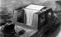 Двустворчатая крышка в кормовой части рубки открыта