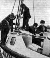 Экипаж на яхте «Надежда»