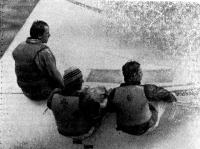 Экипаж победителя регаты X. Наука (ГДР) на дистанции