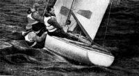 Экипаж управляет яхтой