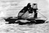Экспериментальная лодка «Дельта» на ходу
