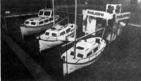 Экспозиция туристских катеров и яхт, построенных по мотивам средиземноморских рыболовных ботов