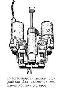 Электрогидравлическое устройство для изменения наклона мощных моторов