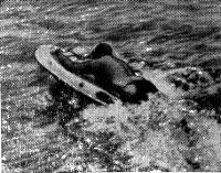 Энрико Марабини на своей лодке