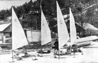 Эскадра буеров у причалов Листвянки
