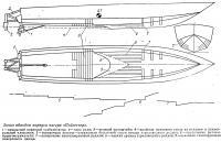 Эскиз обводов корпуса катера «Пэйсеттер»