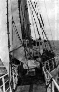 Фото палубы шхуны «Юный Балтиец»