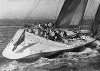 Фото яхты «Новая Зеландия» на ходу