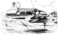 Гидролет будущего. Рисунок А. Сазанова