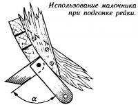 Использование малочника при подгонке рейки