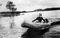 Испытание лодки с мотором