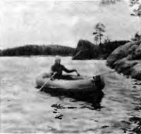 Испытание лодки с веслами