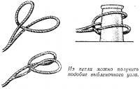Из петли можно получить подобие выбленочного узла