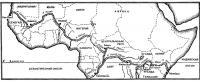 Карта-схема трансконтинентального маршрута пройденного группой Пьера Кампфа